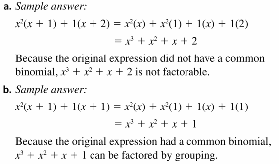 Big Ideas Math Algebra 1 Answers Chapter 7 Polynomial Equations and Factoring 7.8 Question 43