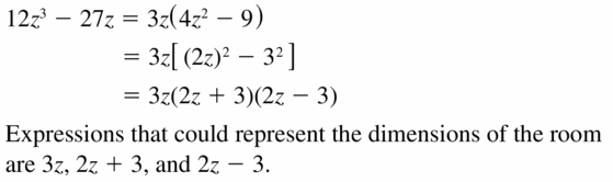 Big Ideas Math Algebra 1 Answers Chapter 7 Polynomial Equations and Factoring 7.8 Question 45