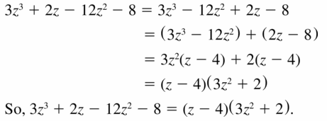 Big Ideas Math Algebra 1 Answers Chapter 7 Polynomial Equations and Factoring 7.8 Question 5