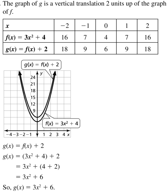 Big Ideas Math Algebra 1 Answers Chapter 8 Graphing Quadratic Functions 8.2 a 13