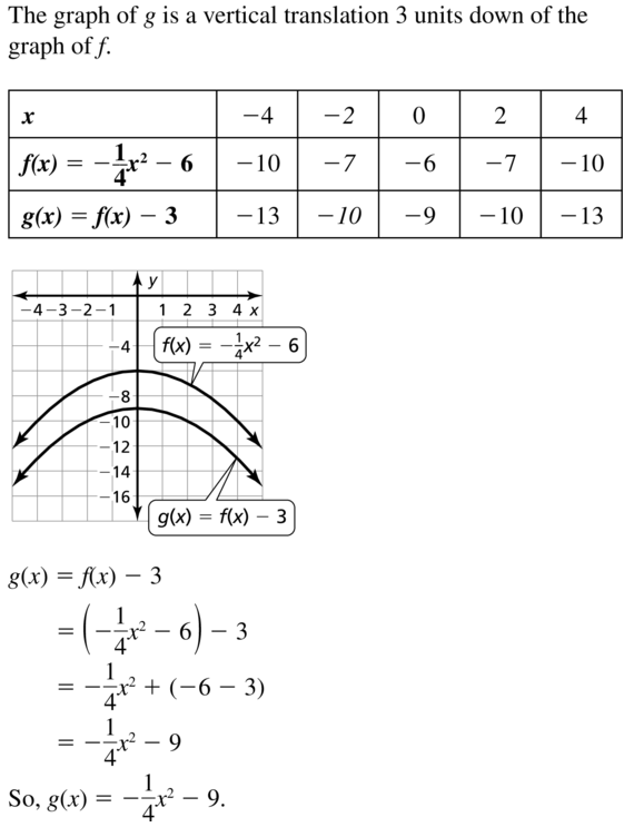 Big Ideas Math Algebra 1 Answers Chapter 8 Graphing Quadratic Functions 8.2 a 15