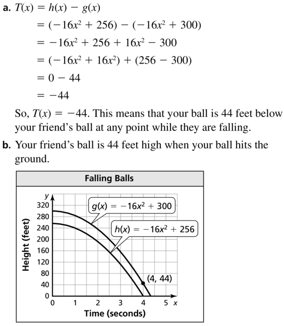Big Ideas Math Algebra 1 Answers Chapter 8 Graphing Quadratic Functions 8.2 a 33