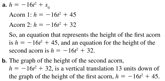 Big Ideas Math Algebra 1 Answers Chapter 8 Graphing Quadratic Functions 8.2 a 39
