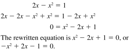 Big Ideas Math Algebra 1 Answers Chapter 9 Solving Quadratic Equations 9.2 a 11