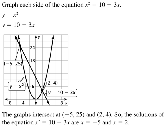 Big Ideas Math Algebra 1 Answers Chapter 9 Solving Quadratic Equations 9.2 a 29