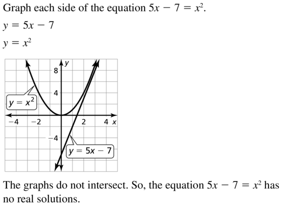 Big Ideas Math Algebra 1 Answers Chapter 9 Solving Quadratic Equations 9.2 a 31