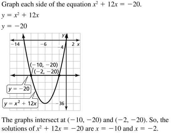 Big Ideas Math Algebra 1 Answers Chapter 9 Solving Quadratic Equations 9.2 a 33