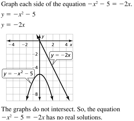 Big Ideas Math Algebra 1 Answers Chapter 9 Solving Quadratic Equations 9.2 a 35