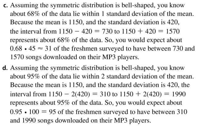 Big Ideas Math Algebra 1 Solutions Chapter 11 Data Analysis and Displays 11.3 a 19.2