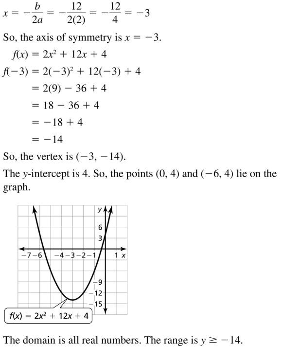 Big Ideas Math Algebra 1 Solutions Chapter 8 Graphing Quadratic Functions 8.3 a 13