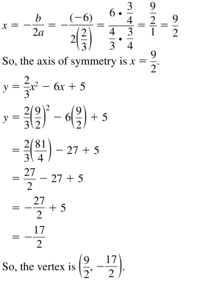 Big Ideas Math Algebra 1 Solutions Chapter 8 Graphing Quadratic Functions 8.3 a 17.1