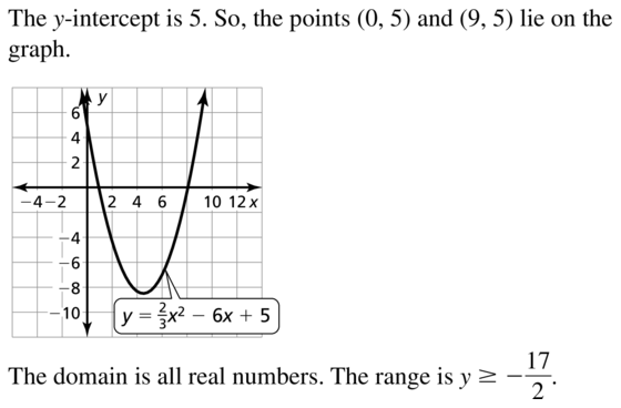 Big Ideas Math Algebra 1 Solutions Chapter 8 Graphing Quadratic Functions 8.3 a 17.2