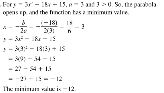 Big Ideas Math Algebra 1 Solutions Chapter 8 Graphing Quadratic Functions 8.3 a 21