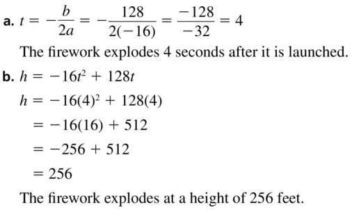 Big Ideas Math Algebra 1 Solutions Chapter 8 Graphing Quadratic Functions 8.3 a 27