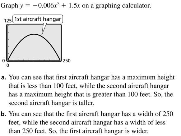 Big Ideas Math Algebra 1 Solutions Chapter 8 Graphing Quadratic Functions 8.3 a 37