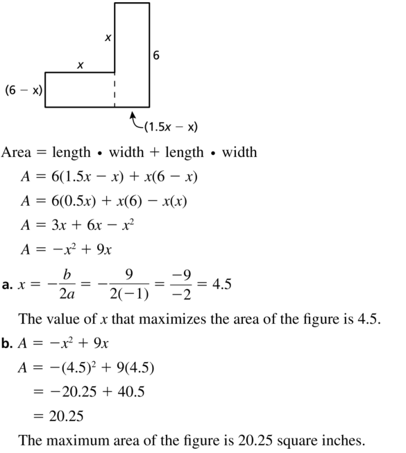 Big Ideas Math Algebra 1 Solutions Chapter 8 Graphing Quadratic Functions 8.3 a 39