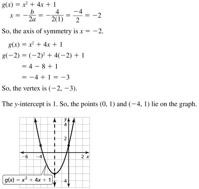 Big Ideas Math Algebra 1 Solutions Chapter 8 Graphing Quadratic Functions 8.3 a 41.1