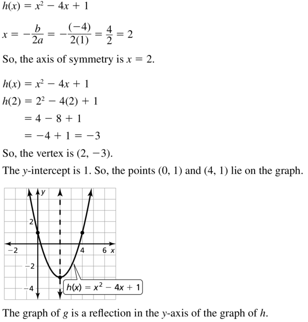 Big Ideas Math Algebra 1 Solutions Chapter 8 Graphing Quadratic Functions 8.3 a 41.2