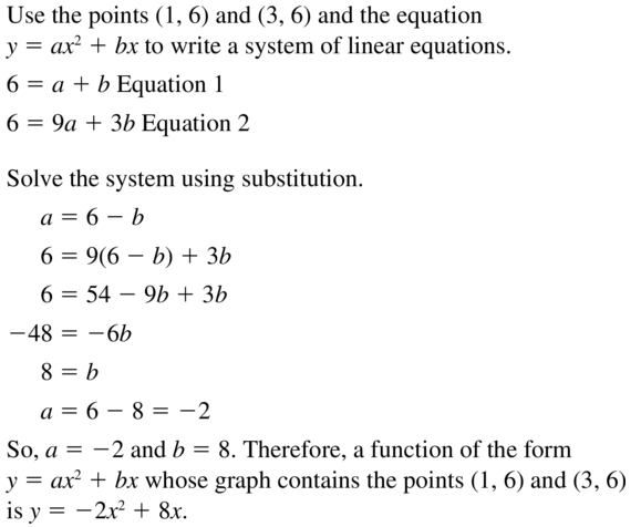 Big Ideas Math Algebra 1 Solutions Chapter 8 Graphing Quadratic Functions 8.3 a 45