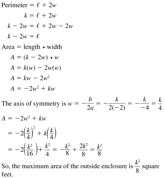 Big Ideas Math Algebra 1 Solutions Chapter 8 Graphing Quadratic Functions 8.3 a 49