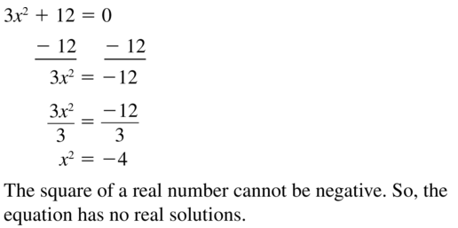 Big Ideas Math Algebra 1 Solutions Chapter 9 Solving Quadratic Equations 9.3 a 11