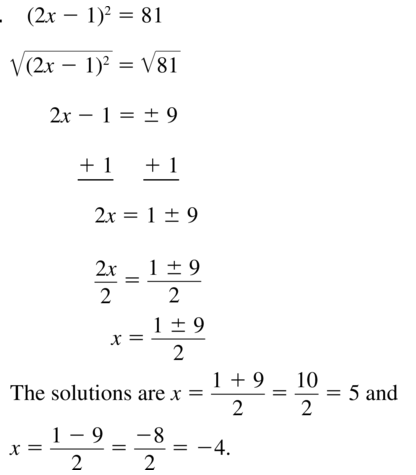 Big Ideas Math Algebra 1 Solutions Chapter 9 Solving Quadratic Equations 9.3 a 21