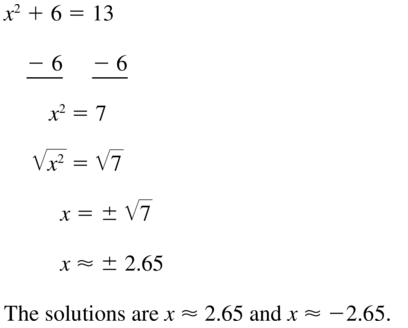 Big Ideas Math Algebra 1 Solutions Chapter 9 Solving Quadratic Equations 9.3 a 25