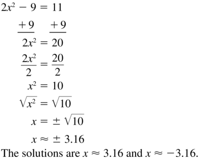Big Ideas Math Algebra 1 Solutions Chapter 9 Solving Quadratic Equations 9.3 a 27