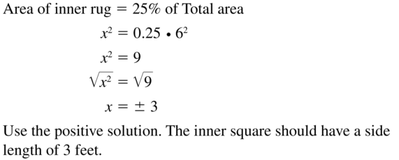 Big Ideas Math Algebra 1 Solutions Chapter 9 Solving Quadratic Equations 9.3 a 35
