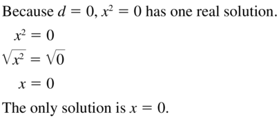 Big Ideas Math Algebra 1 Solutions Chapter 9 Solving Quadratic Equations 9.3 a 7