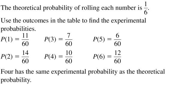 Big Ideas Math Algebra 2 Answer Key Chapter 10 Probability 10.1 a 15