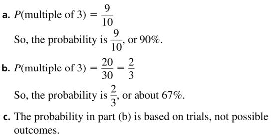 Big Ideas Math Algebra 2 Answer Key Chapter 10 Probability 10.1 a 17
