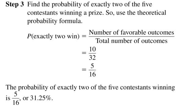 Big Ideas Math Algebra 2 Answer Key Chapter 10 Probability 10.1 a 7.2