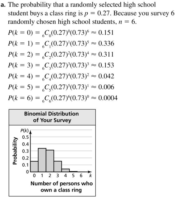 Big Ideas Math Algebra 2 Answer Key Chapter 10 Probability 10.6 a 13.1
