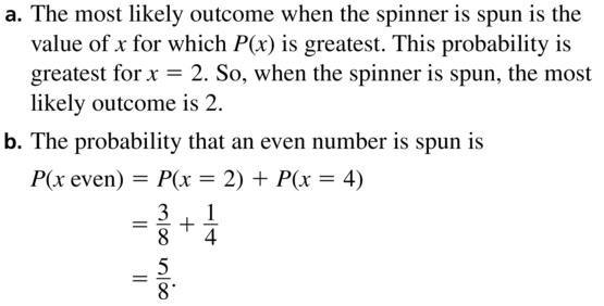 Big Ideas Math Algebra 2 Answer Key Chapter 10 Probability 10.6 a 7