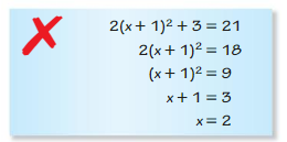 Big Ideas Math Algebra 2 Answer Key Chapter 3 Quadratic Equations and Complex Numbers 3.1 5