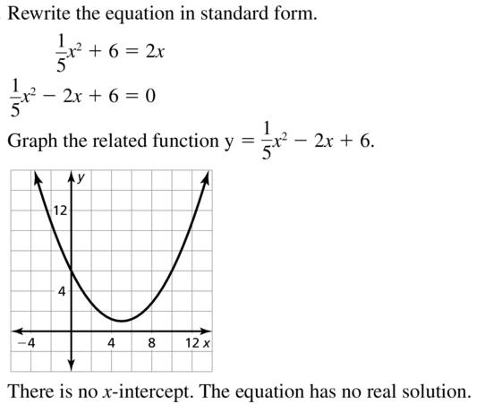 Big Ideas Math Algebra 2 Answer Key Chapter 3 Quadratic Equations and Complex Numbers 3.1 a 11