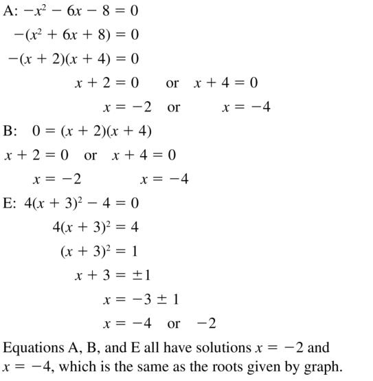 Big Ideas Math Algebra 2 Answer Key Chapter 3 Quadratic Equations and Complex Numbers 3.1 a 21