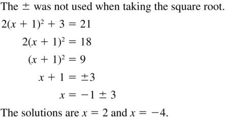 Big Ideas Math Algebra 2 Answer Key Chapter 3 Quadratic Equations and Complex Numbers 3.1 a 23