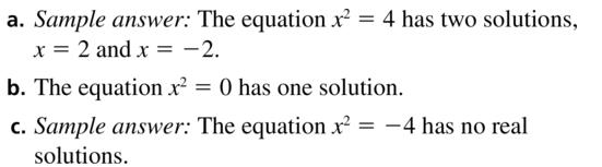 Big Ideas Math Algebra 2 Answer Key Chapter 3 Quadratic Equations and Complex Numbers 3.1 a 25