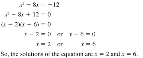 Big Ideas Math Algebra 2 Answer Key Chapter 3 Quadratic Equations and Complex Numbers 3.1 a 29