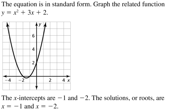 Big Ideas Math Algebra 2 Answer Key Chapter 3 Quadratic Equations and Complex Numbers 3.1 a 3
