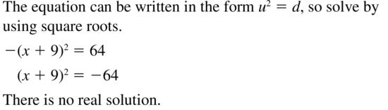 Big Ideas Math Algebra 2 Answer Key Chapter 3 Quadratic Equations and Complex Numbers 3.1 a 41
