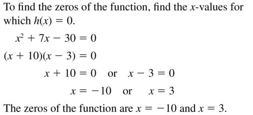 Big Ideas Math Algebra 2 Answer Key Chapter 3 Quadratic Equations and Complex Numbers 3.1 a 49