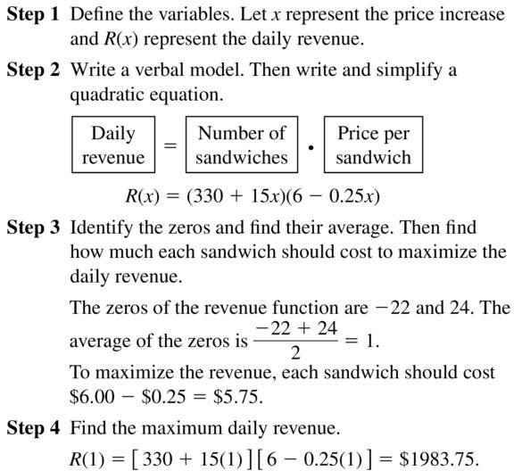 Big Ideas Math Algebra 2 Answer Key Chapter 3 Quadratic Equations and Complex Numbers 3.1 a 57