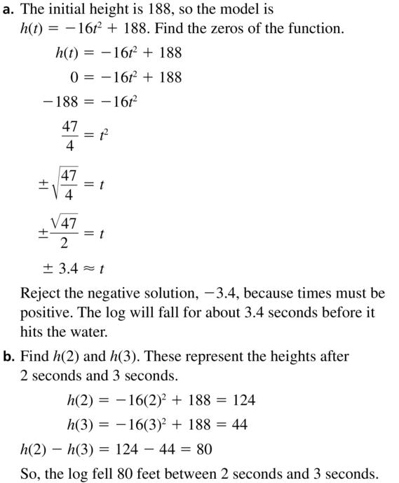 Big Ideas Math Algebra 2 Answer Key Chapter 3 Quadratic Equations and Complex Numbers 3.1 a 59