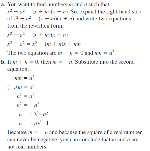 Big Ideas Math Algebra 2 Answer Key Chapter 3 Quadratic Equations and Complex Numbers 3.1 a 73