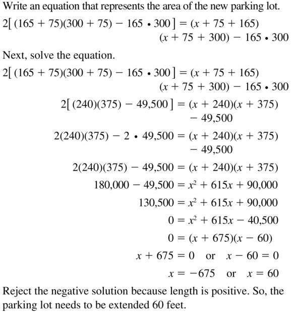 Big Ideas Math Algebra 2 Answer Key Chapter 3 Quadratic Equations and Complex Numbers 3.1 a 75