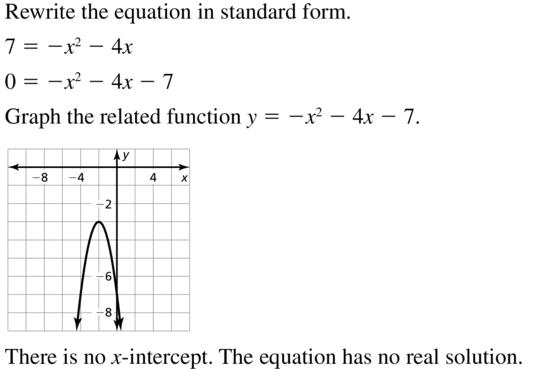 Big Ideas Math Algebra 2 Answer Key Chapter 3 Quadratic Equations and Complex Numbers 3.1 a 9