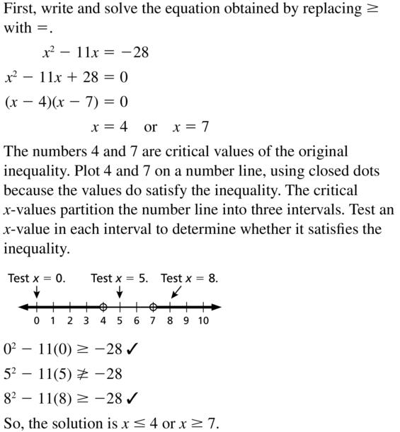 Big Ideas Math Algebra 2 Answer Key Chapter 3 Quadratic Equations and Complex Numbers 3.6 a 29